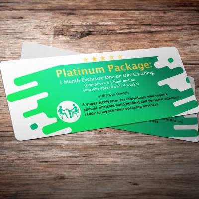 Platinum Package: 1 Month Exclusive One-On-One Coaching