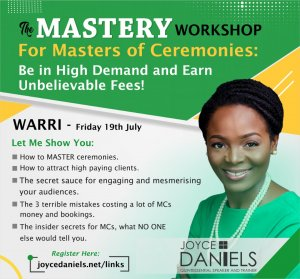 Joyce Daniels - Mastery Workshop Warri